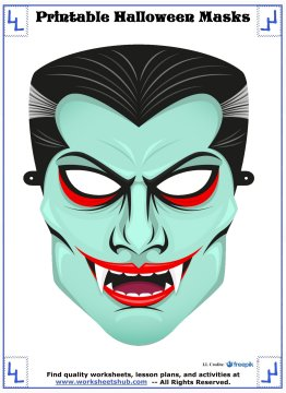 printable halloween masks 7