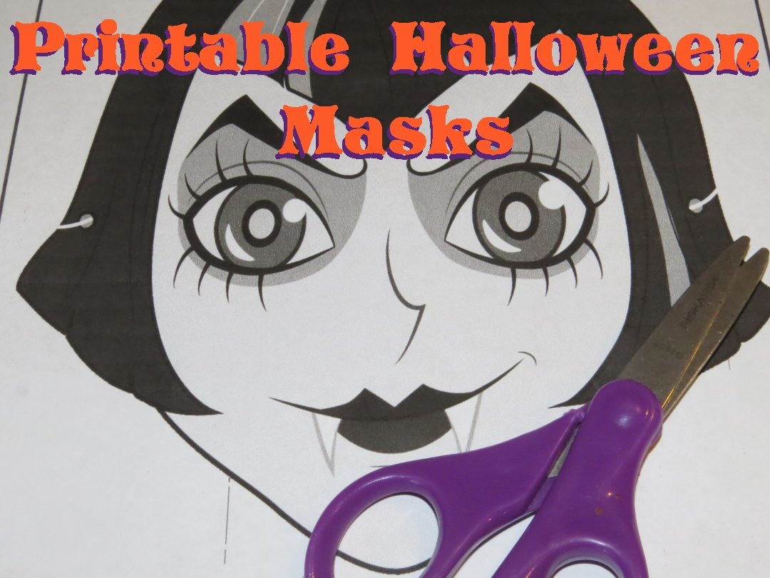 picture about Printable Halloween Masks named Printable Halloween Masks