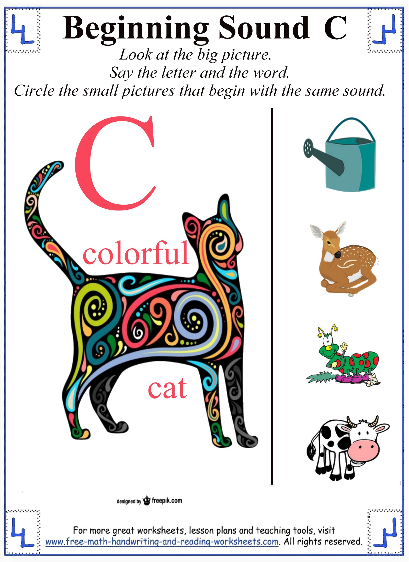 printable letter c worksheets u0026 activities