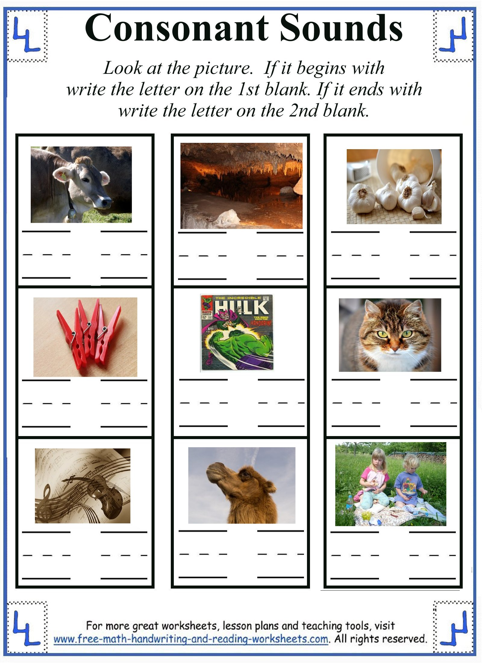 Printable Letter C Worksheets  Activities