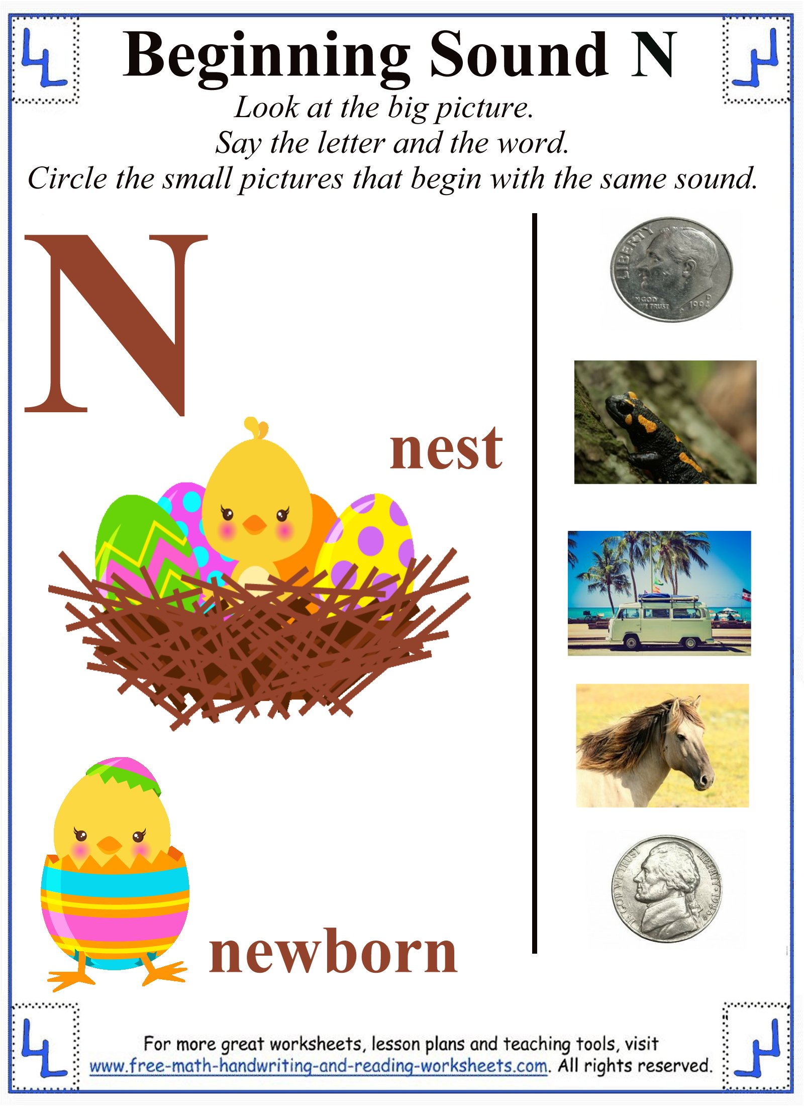 Printable Letter N Worksheets – Letter N Worksheets for Kindergarten