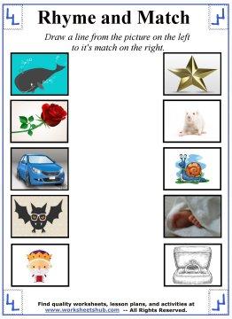 rhyming words worksheets 1