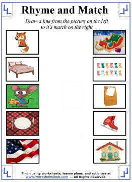 rhyming words worksheets 2