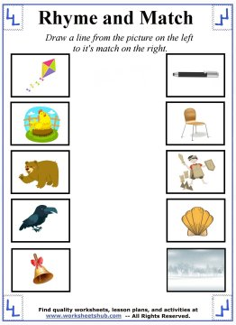 rhyming words worksheets 3