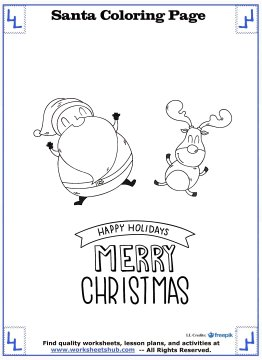 santa coloring pages 10