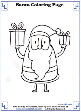 santa coloring pages 11