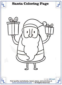 Santa Coloring Pages - Christmas Printables