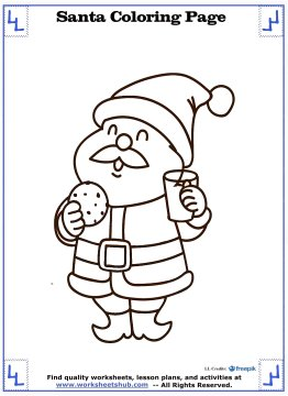 santa coloring pages 12