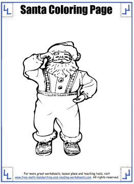 santa coloring pages 3