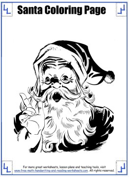 santa coloring pages 4
