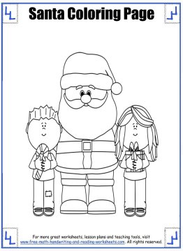 santa coloring pages 6