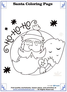 santa coloring pages 7