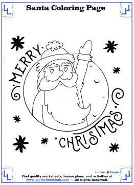 santa coloring pages 8