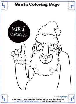 santa coloring pages 9