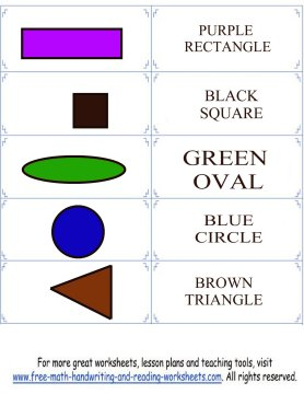 colors and shapes flashcard set 2