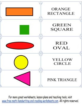 colors and shapes flashcard set 3