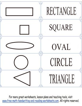 Print Your Shape Flashcards