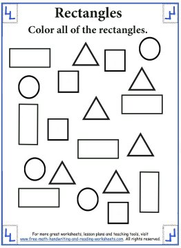 Shape Worksheets - Rectangles