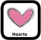 heart shapes worksheets