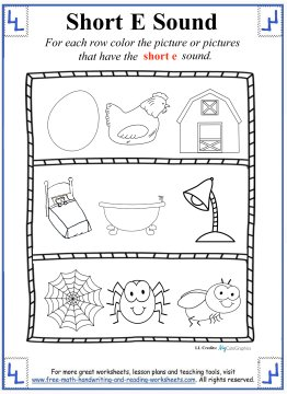 Printables Short E Worksheets For First Grade short e worksheets and activities