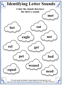 Printables Short E Worksheets For First Grade short e worksheets and activities 6