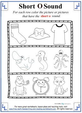 Short O Sounds Color Puzzle | Worksheet | Education.com