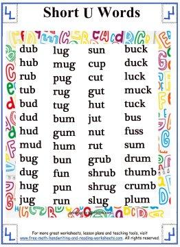 short vowel sound 5