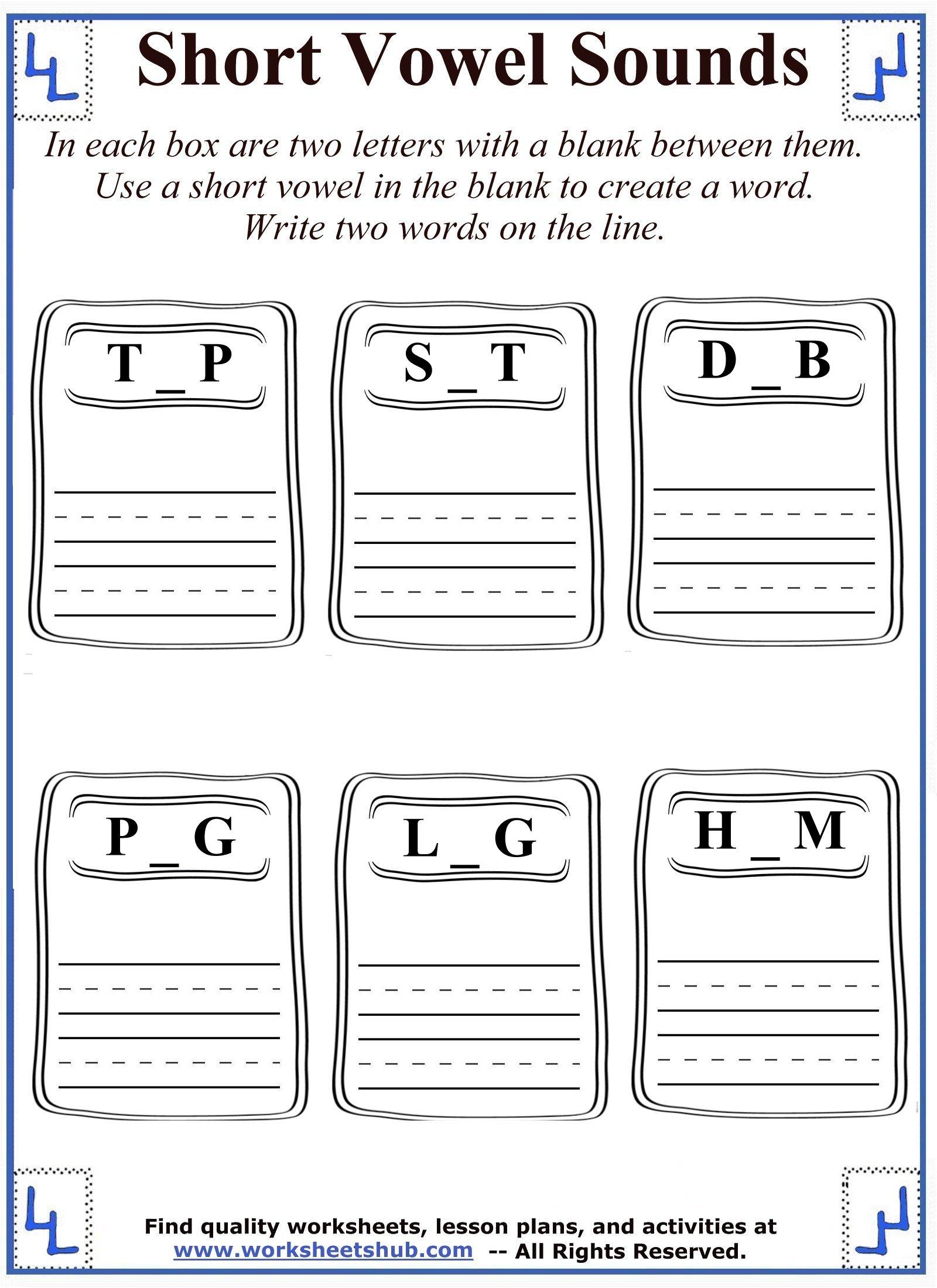 short vowel sounds 6