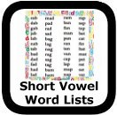 short vowel word lists