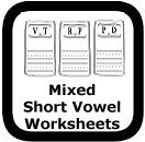 mixed short vowel worksheets