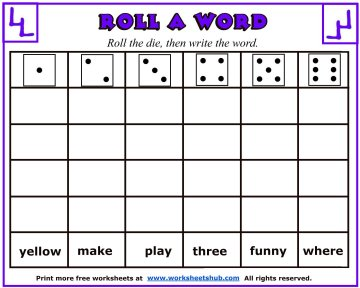 sight word worksheets 4
