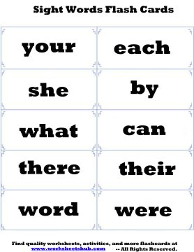 photo regarding Sight Word Flash Cards Printable called Sight Words and phrases Flash Playing cards - Printable Flashcards