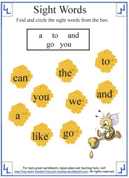 Free Worksheets » Kinder Sight Word Worksheets - Free Printable ...