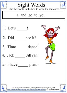 sight words for kindergarten 4