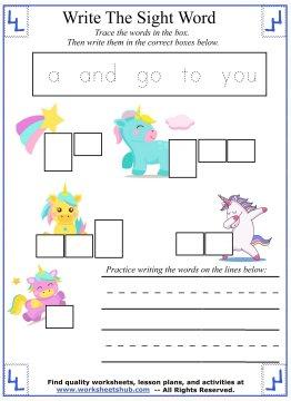 sight words for kindergarten 6