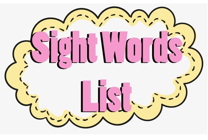 sight words list