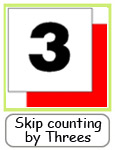 skip counting by threes