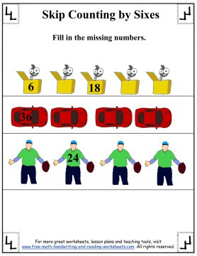 skip counting by sixes 6