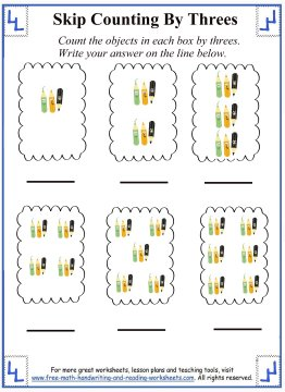 Number Names Worksheets skip counting by 3 worksheets : Skip Counting By Threes