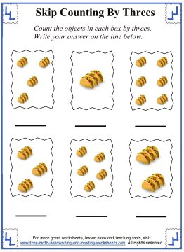 skip counting by threes 5