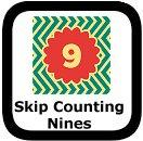 skip counting nines 00