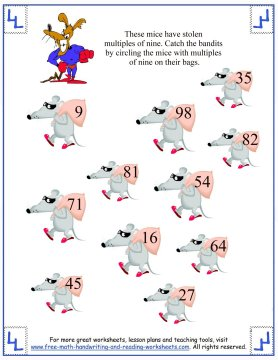 skip counting nines 3