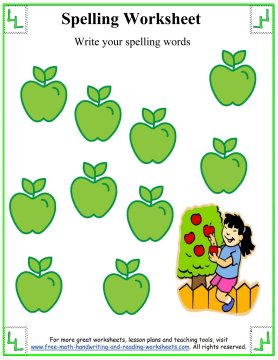 spelling word lists 5