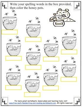 Number Names Worksheets free spelling worksheet : Spelling Words First Grade Blends str-/scr-/sp-
