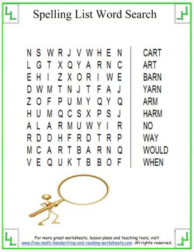 spelling worksheets 6