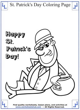 st patricks day coloring pages 011