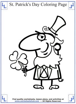 st patricks day coloring pages 012