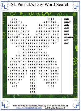 st patricks day word search 02