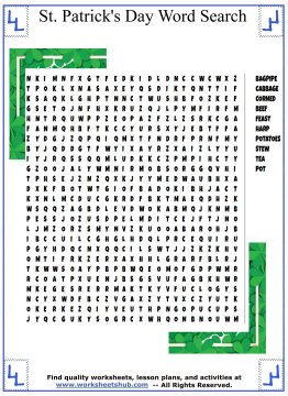 st patricks day word search 03