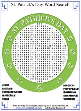 st patricks day word search 04